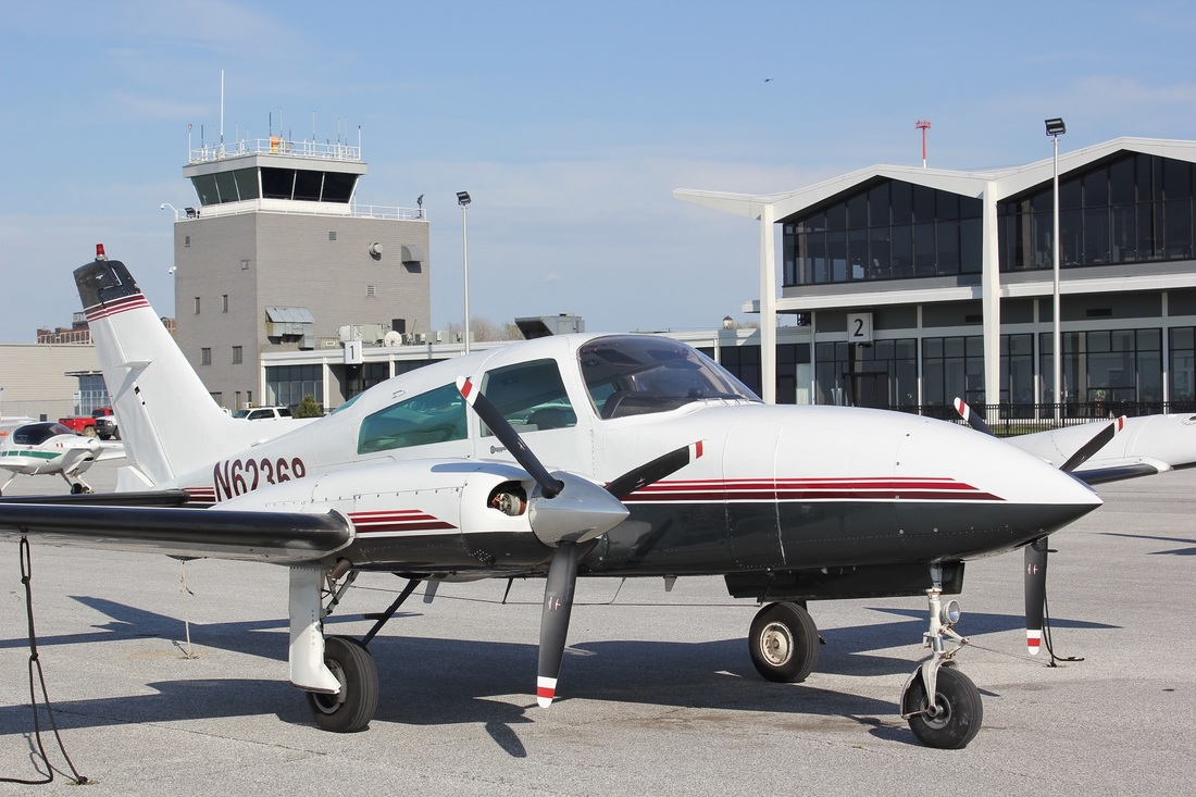 A Cessna 310, a highly flexible private aircraft charter
